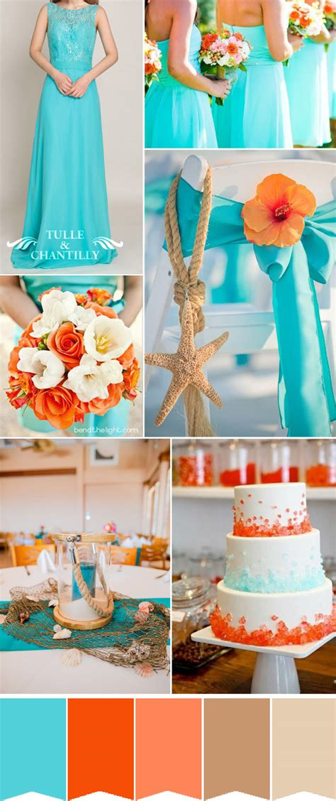 orange color theme fabulous summer wedding colors with matched