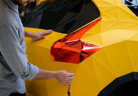 origami paper car nissan forms size origami car with 2 000 folded paper