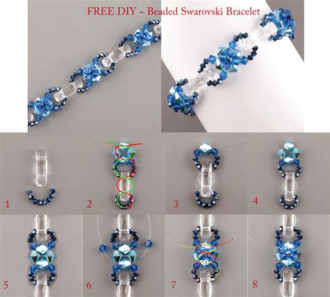 free beading projects free pattern sea bracelet beaded swarovski