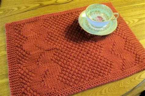 free knitted table runner patterns really reversible placemats table runners collection