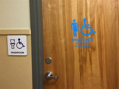 Gender Neutral Bathrooms In Schools by B C School S Take On A Gender Neutral Bathroom Whatever