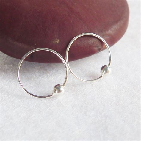 captive bead ring cartilage 12 mm sterling silver hoop captive bead ring 92 5 by
