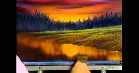 bob ross painting tutorials the of painting s13e4 evening at sunset painting