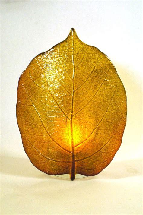 glass leaf kiwi leaf and slumping mold glass