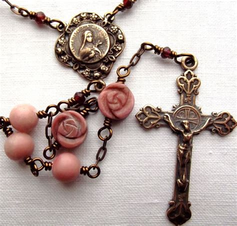 rosary from flowers st therese of lisieux flower rosary w peruvian