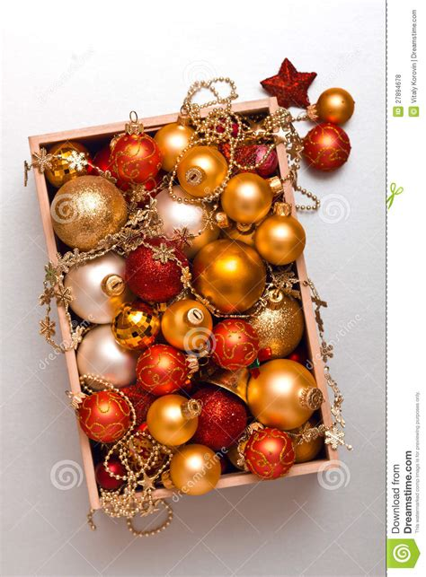 box of decorations box of decorations royalty free stock photos