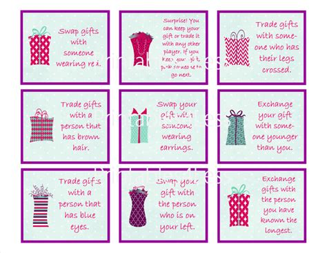 ideas for gift exchange for gift exchange printable partyideapros