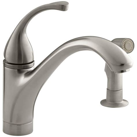 kohler single kitchen faucet kohler forte single handle standard kitchen faucet with