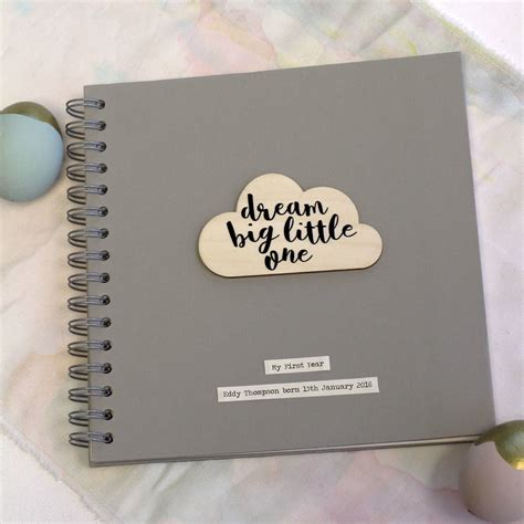 picture memory book personalised cloud quote memory book by posh totty designs