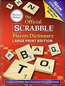 scrabble webster dictionary the official scrabble players dictionary fifth edition