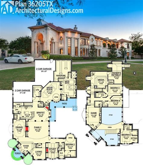 35 best luxurious floor plans images on home