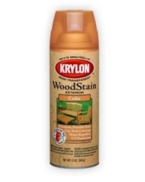spray paint on wood exterior semi transparent wood stain krylon