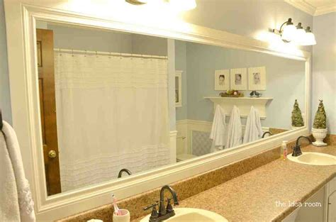 mirror frames for bathroom large framed mirrors for bathrooms decor ideasdecor ideas