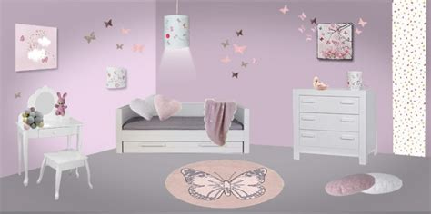 d 233 co chambre bebe fille papillon