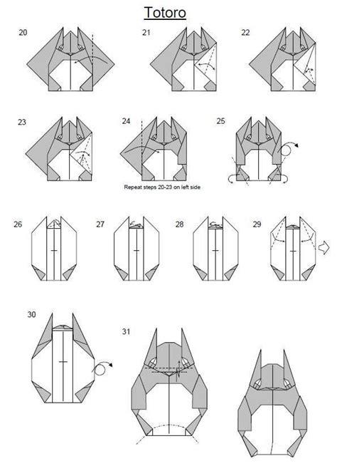 origami totoro origami totoro miyazaki papeles