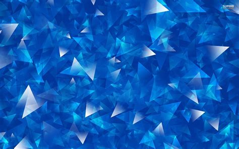 blue silver overlapping blue and silver triangles