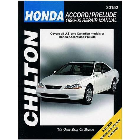 auto repair manual free download 1996 honda accord instrument cluster 1995 2000 honda accord and prelude repair chilton total car care manual northern auto parts