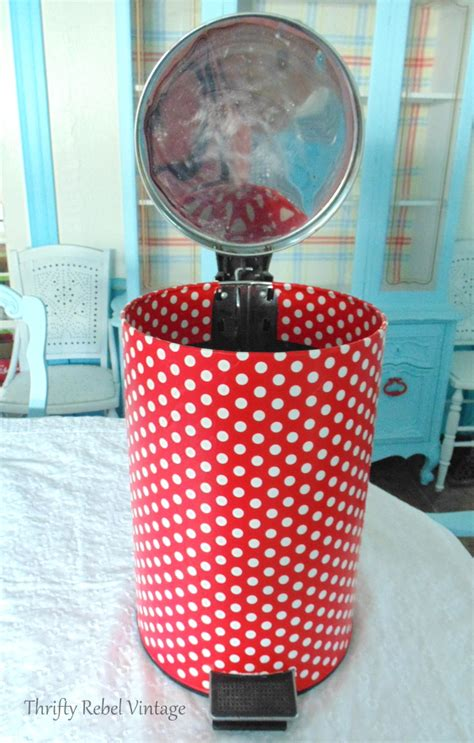 decoupage trash can how to decoupage a garbage can to match your decor