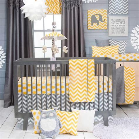 yellow grey and white crib bedding 25 best ideas about gray yellow nursery on