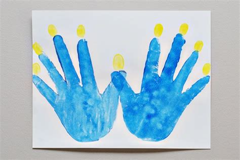 hannukah crafts for hanukkah handprint craft