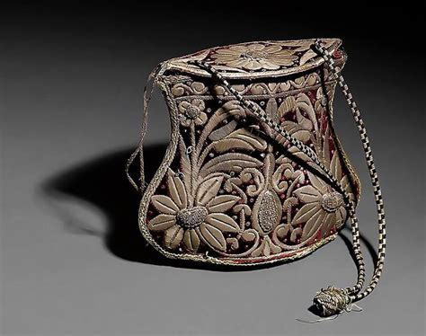 ottoman period ottoman period a velvet money purse embroidered with