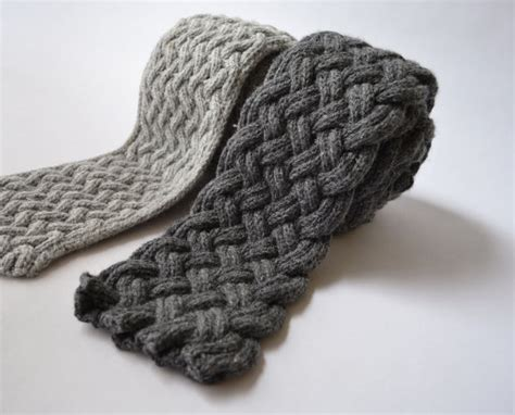 knitting patterns etsy items similar to causey flagstone two scarf knitting