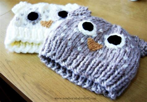 knitting patterns for owls baby knitting patterns pretty column owl hat free
