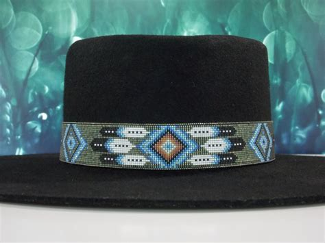 beaded hat band patterns american beaded hat band in a patina by