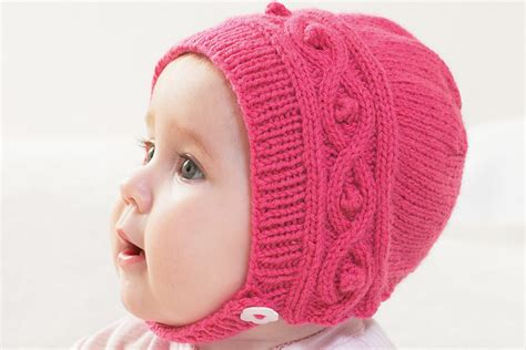 knitting patterns uk free knitted cable bonnet pattern hobbycraft