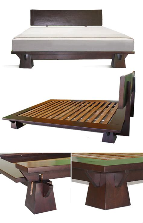 japanese low bed frame platform beds low platform beds japanese solid wood bed