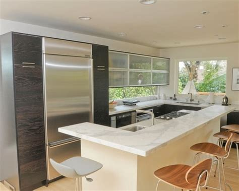 small modern kitchen cabinets d modern small kitchen design with cherry wood cabinets