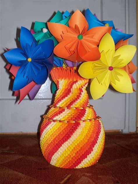 origami 3d flower vase vase flowers album margaret 3d origami