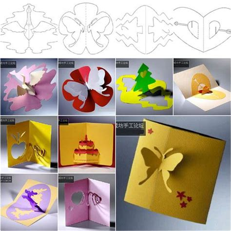 3d cards to make at home wonderful diy 3d kirigami cards with 18 templates