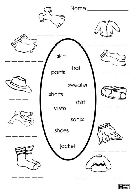 and activities best 25 clothes worksheet ideas on parts