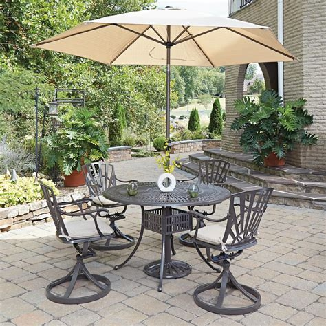 5 patio set with umbrella home styles largo 5 patio dining set with umbrella