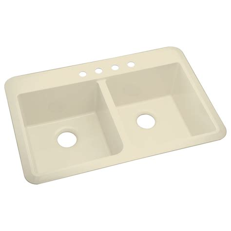 composite kitchen sink shop sterling slope 2 drop in or undermount composite