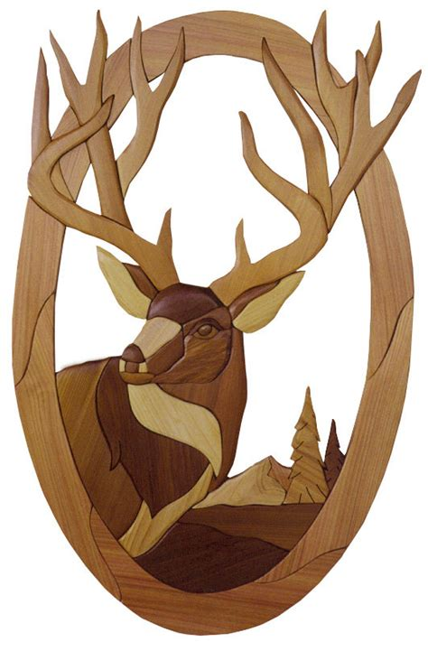 woodworking pattern intarsia woodworking pattern deer