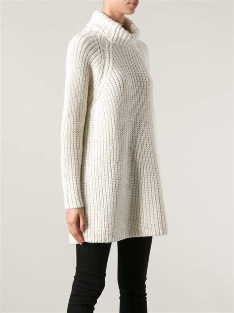 white chunky knit sweater carin wester chunky knit sweater in white lyst
