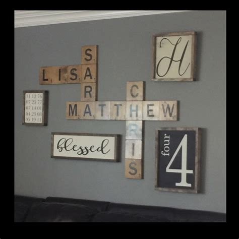 scrabble names scrabble wall display family names in a by