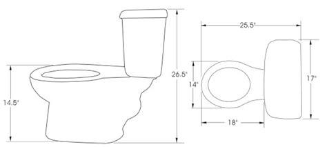 Eco Toilet Dimensions by Dimension Toilette Standard Obasinc