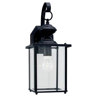 outdoor light fixtures home depot sea gull lighting jamestowne 1 light black outdoor wall