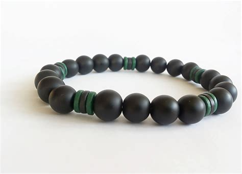 black onyx bead bracelet for mens black beaded bracelet black onyx bracelet