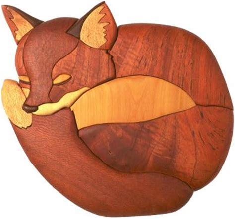 patterns for woodworking fox cub intarsia pattern