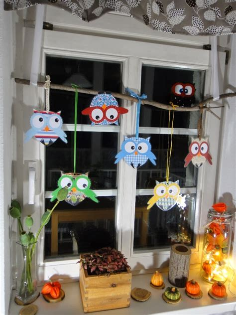 Herbstdeko Fenster Hängend by Ines Felix Kreatives Zum Nachmachen Eulenfenster