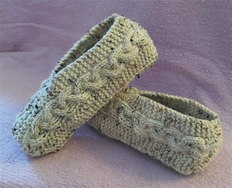 free patterns for slippers to knit cable knit slippers by janis frank craftsy