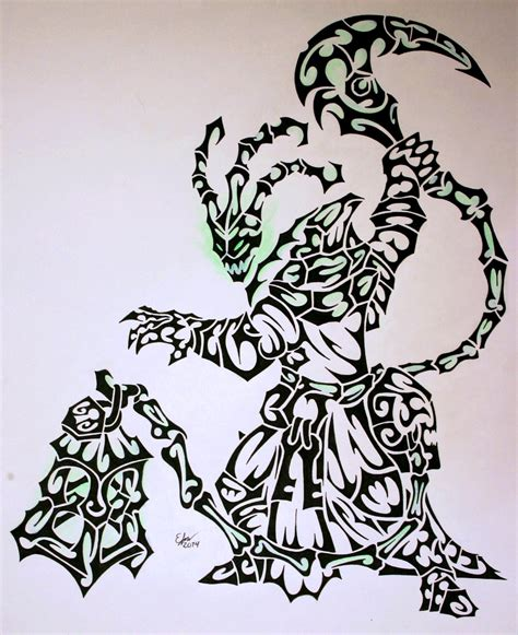 tribal thresh by esmeekramer on deviantart