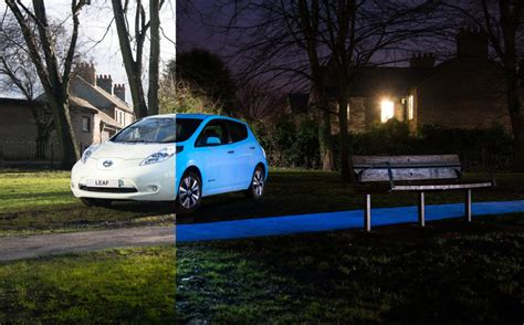 glow in the paint for cars nissan glow in the leaf features sunlight absorbing