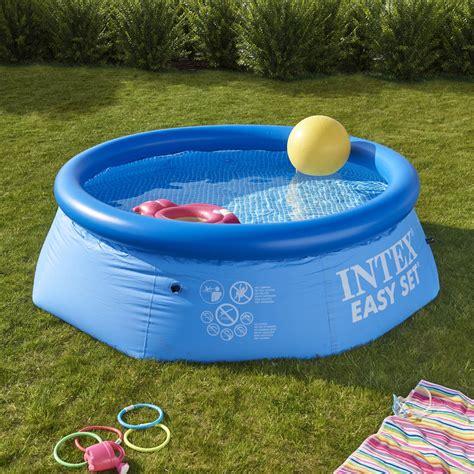 piscine hors sol autoportante gonflable easy set intex diam 2 44 x h 0 76 m leroy merlin