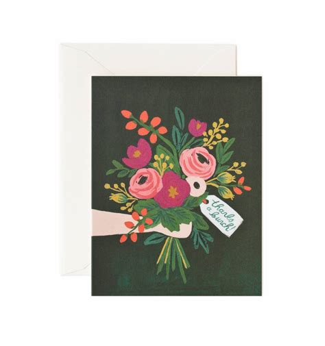 greeting card thanks a bunch greeting card by rifle paper co made in usa