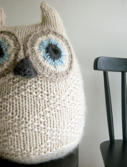 knitting patterns for owls knitted owl on owl cushion knitting toys and